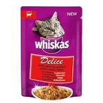 Whiskas Delice Grillezett marhahússal aszpikban 85g