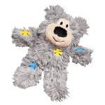 KONG Softies Patchwork Bear szürke macskajáték 12cm