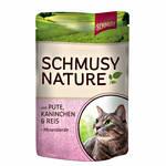 Schmusy Nature Adult Pulyka Nyúllal 100g