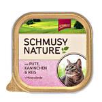 Schmusy Nature Adult Pulyka Nyúl kovafölddel 100g