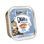 Happy Cat Duo Marha Tőkehal pástétom 100g