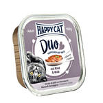 Happy Cat Duo Marha Vad pástétom 100g