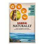 IAMS Naturally Cat Óceáni Tőkehal Szószban 85g