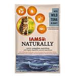 IAMS Naturally Cat Vadonfogott Tonhal Szószban 85g