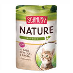 Schmusy Nature Balance Kitten Borju Baromfi utifűmaghéjjal 100g