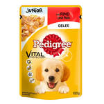 Pedigree Junior Vital Marhahús Rizzsel 100g