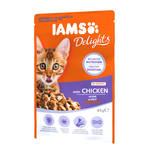 IAMS Delights Kitten Csirke falatok ízletes szószban 85g