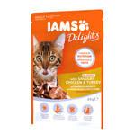 IAMS Delights Ízletes Csirke pulykahússal szószban 85g