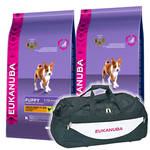 Eukanuba Puppy & Junior Medium 2x15kg +Sporttáska