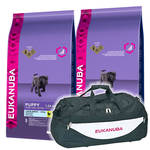 Eukanuba Puppy & Junior Large 2x15kg +Sporttáska