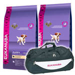 Eukanuba Puppy Lamb & Rice All Breed 2x12kg +Sporttáska
