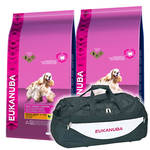 Eukanuba Adult Medium Weight Control 2x15kg +Sporttáska