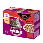Whiskas Creamy Soup 1+ Húsos Válogatás krémes szószban 12x100g