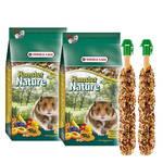 Versele-Laga Hamster Nature 2x750g +Ajándék
