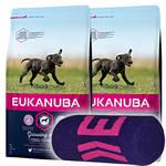 Eukanuba Growing Puppy Large Breed 2x15kg +Ajándék Törölköző