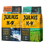 Julius K-9 GF Utility Dog Hypoallergen Adult Lazac spenót +Nyúl rozmaring 2x10kg