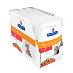Hills PD Feline c/d Urinary Care Urinary Stress Salmon 12x85g