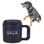 Paw Plunger Medium Mancstisztító közepestestű kutyáknak fekete