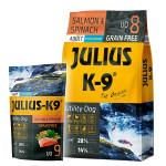 Julius K-9 GF Utility Dog Hypoallergen Adult Lazac spenót 3kg +Ajándék Lazac 340g