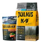 Julius K9 GF Utility Dog Hypoallergen Senior Bárány 3kg+Ajándék Lazac 340g