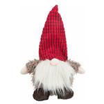 Trixie Xmas Dwarf zörgős sapkájú piros plüssjáték 33cm