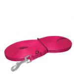 Trixie Hurok nélküli gumírozott csúszásmentes textilpóráz pink 15m