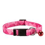Trixie Dinamic mintás macskanyakörv pink