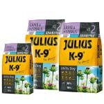 Julius K9 GF Utility Dog Hypoallergen Puppy Junior Bárány gyógynövény 2x10kg +Ajándék 3kg