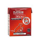 Platinum Menü Beef Chicken Marha csirke 375g