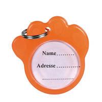 Trixie Fluoreszkáló címtartó biléta narancs 3,5cm