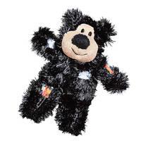 KONG Softies Patchwork Bear fekete macskajáték 12cm