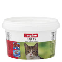 Beaphar TOP10 Multivitamin macskáknak 180db