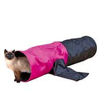 Trixie Játszóalagút cicáknak pink fekete 30x115cm
