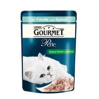 Gourmet Perle Gravy Delight Pisztránggal és spenóttal 85g