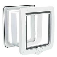 Trixie 4 funkciós XL macskaajtó alagútelemmel fehér 24x28cm