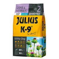 Julius K9 GF Utility Dog Hypoallergen Puppy Junior Bárány gyógynövény 3kg
