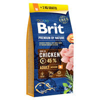 Brit Premium by Nature Adult Medium Breed 15+3kg Ajándék