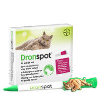 DronSpot Féreghajtó Spot-On nagytestű macskáknak 5kg-8kg 2x1,12ml Ajándék Tollal