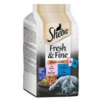 Sheba Fresh & Fine Duo Lazac Tonhal Kétízű válogatás szószban 6x50g
