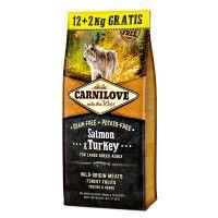 CarniLove Adult Large Lazac & Pulyka 12+2kg