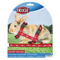 Trixie Nyúlhám nyuszi-répa mintákkal Piros